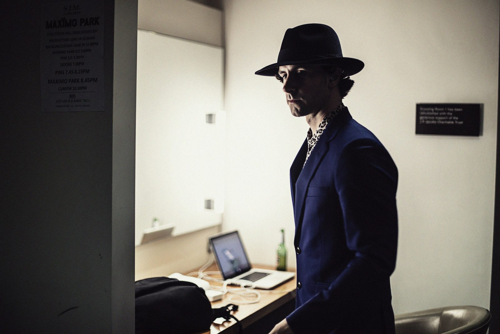Backstage with Maximo Park