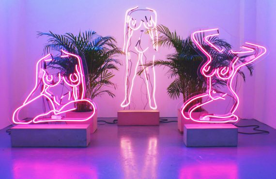 Exploring art's relationship with the female body, through neon
