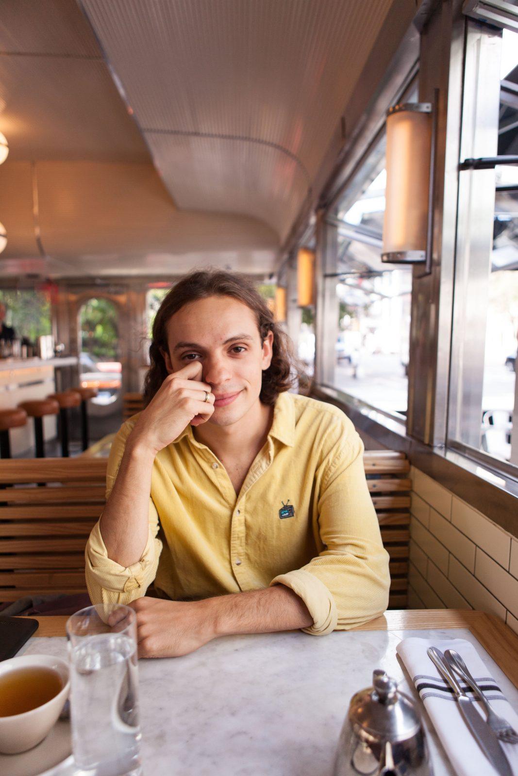 having breakfast in a Manhattan diner with Zuli