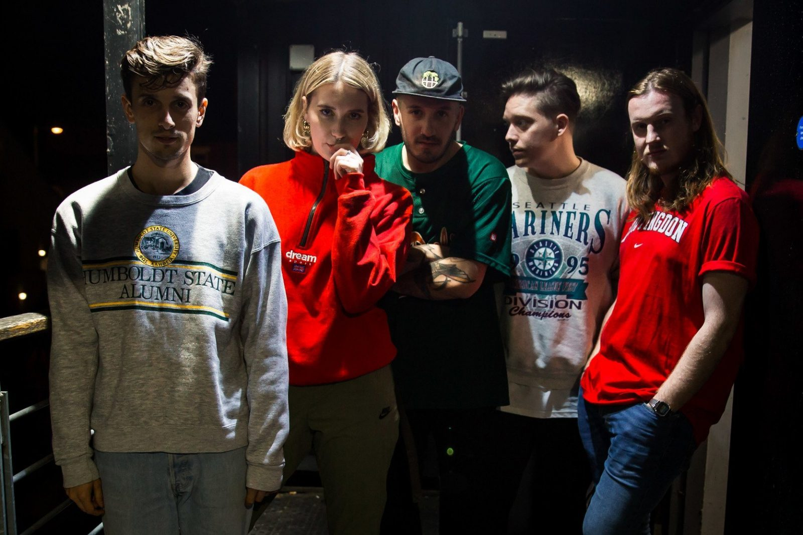 backstage with Fickle Friends