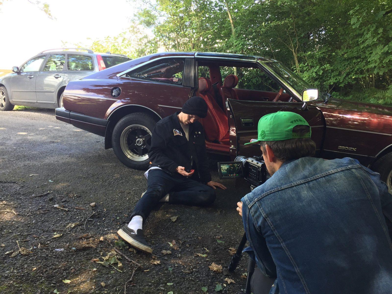 Behind the scenes with Dan Bettridge filming the 'Blame' video