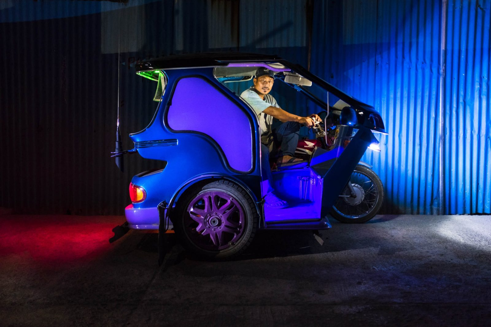 The rainbow taxi drivers relying on their own creativity for business