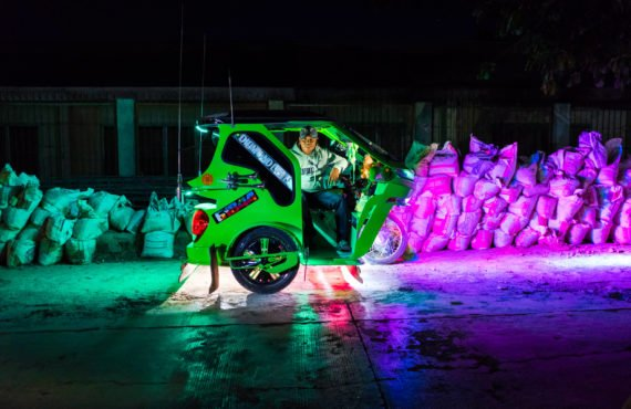 The rainbow taxi drivers relying on their own creativity for…