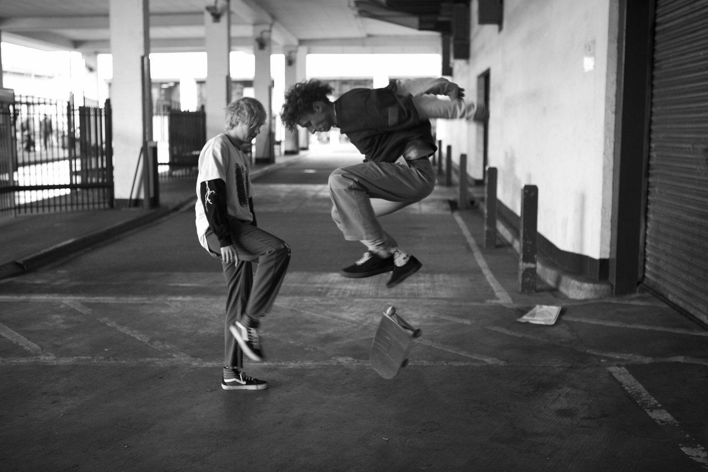 skating with Rat Boy